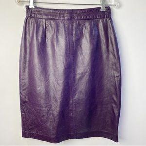 Vintage Leather high waisted pencil skirt